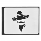 "Creative Hat King Style Decoration Sticker for Macbook 11"" / 13"" / 15"" / 17"" - Black"