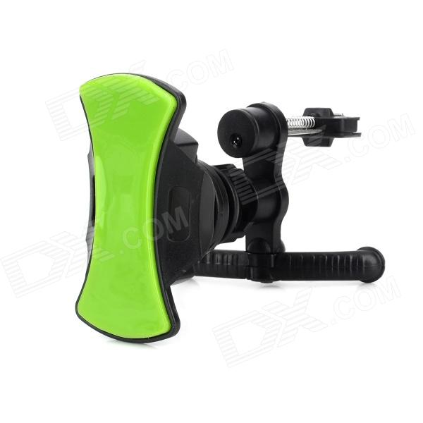 JiaHui Portable Universal 360 Degree Rotation Car Air Vent Holder for Cell Phone - Black + Green windshield universal swivel rotation car mount holder for cell phone gps psp iphone black