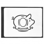 "Creative Pig Pattern Sticker for Apple Macbook 11"" / 13"" / 15"" / 17"" - Black"