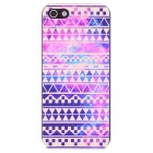 Stylish Tribal Ethnic Pattern Plastic Back Case for Iphone 5 - Purple + Beige + Multi-colored