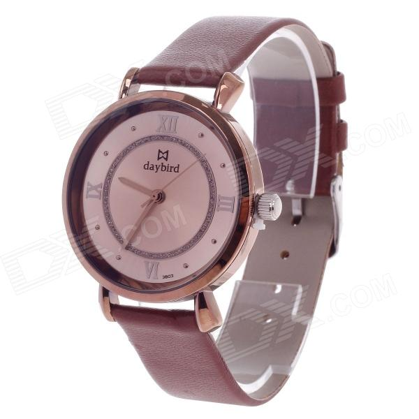 Daybird 3803 Fashionable Women's Quartz Analog Wrist Watch - Brown + Coffee (1 x LR626) цена 2017