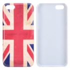 UK Flag Protective Plastic Back Case for Iphone 5C - Red + Beige