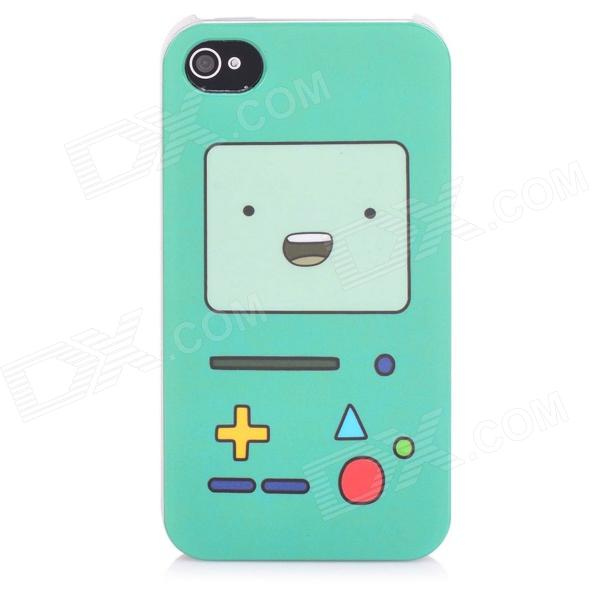 Cute Game Console Pattern Protective Plastic Back Case for Iphone 4 / 4S - Brown