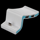 3-Port UBS 2.0 HUB + Micro USB Connector Data Sync / Charging Dock for Samsung / HTC / Sony - White