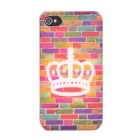 Crown Pattern Protective Plastic Back Case for Iphone 4 / 4S - Multi-colored