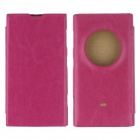 Protective PU Leather + PC Case Cover for Nokia Lumia 1020 EOS - Deep Pink