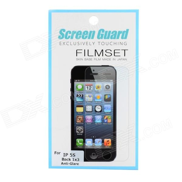 Protective Matte Screen Guard Set for Iphone 5S - Translucent White protective matte frosted screen protector film guard for nokia lumia 900 transparent