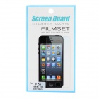 Protective Matte Screen Guard Set for Iphone 5S - Translucent White