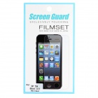 Protective Clear Screen Guard Set for Iphone 5S - Translucent White (3 PCS)