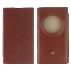 Protective PU Leather + PC Case Cover for Nokia Lumia 1020 EOS - Coffee