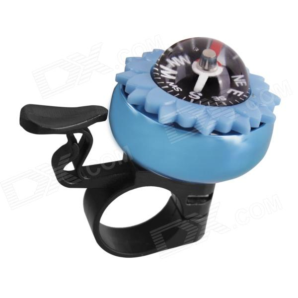 S25-401 Mini Bicycle Bell w/ Compass - Blue + Black