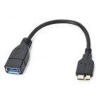 CY U3-119-BK Micro USB 3.0 9-Pin Male to USB 3.0 Female OTG Cable for Samsung Galaxy Note 3 N9000
