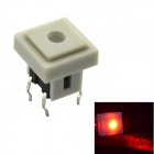 Jtron Light Touch-Schalter w / Red Light - White (10 PCS)