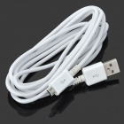 Micro USB macho a USB 2.0 macho sincronización de datos / cable de carga para Samsung Galaxy S4 i9500 / S3 - blanco