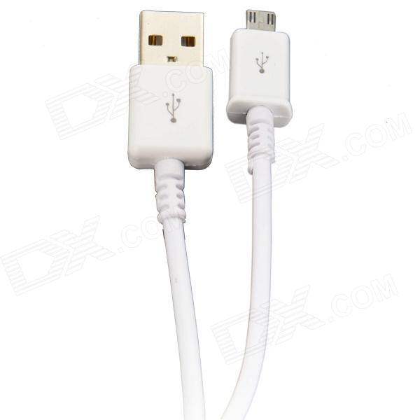 Micro USB Male to USB 2.0 Male Data Sync / Charging Cable for Samsung Galaxy S4 i9500 / S3 - White usb to micro usb charging data cable for samsung galaxy note 3 white black 100cm