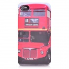 Double Decker Bus Protective Plastic Back Case for iPhone 4 / 4S - Red