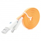 USB-Stecker an Micro-USB-Stecker Data Sync & Ladekabel für Samsung / HTC - Orange + White (100cm)