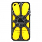 Protective Skeleton Tire Style TPU Back Case for Iphone 5C - Black