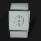 Square Concise Quartz Analog Bracelet Watch for a Fair Maiden - Silver + White (1 x 377)