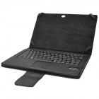 Bluetooth V3.0 Wireless Keyboard w/ PU Leather Case for Microsoft Surface RT & SurfacePro - Black
