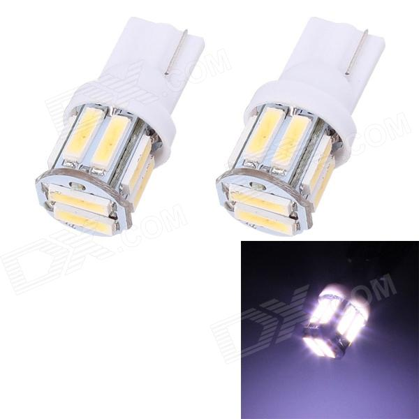 T10 5W 400lm 10 x SMD 7020 LED White Light Car Steering / Signal / Corner Lamp - (DC 12V / 2 PCS)