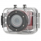 DV123 Outdoor Sports Waterproof HD 2.0 TFT 1.3MP CMOS Camera w/ TF / Mini USB Set - Red + Black