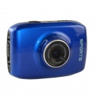 DV123 Outdoor Sports Waterproof HD 2.0 TFT 1.3MP CMOS Camera w/ TF / Mini USB Set - Blue + Black