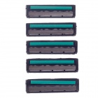 Gilheney G-802 3-Blade Replacement Razor Cartridge - Black + Green + Silver (5 PCS)