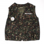 YF-10 Cool Cosplay Children Camouflage Clothes Set for Halloween Party - Green + Grey