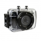 DV123 Outdoor Sports wasserdichte HD 2.0 TFT 1.3MP CMOS Kamera w / TF / Mini-USB-Set - Schwarz