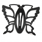 Lovely Butterfly Style Matte Paint Hairpin / Side Folder / Hair Clip - Black