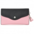 Stylish Universal PU Leather Shoulder Bag for Iphone / Samsung / HTC + More - Black + Pink