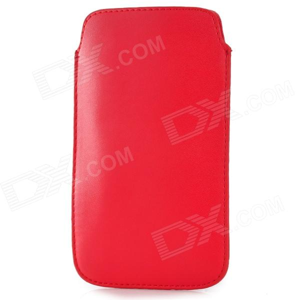 Protective Cord Pull PU Leather Case Pouch Bag for Samsung Galaxy Note 3 N9000 - Red