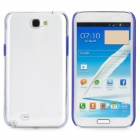 Protective Plastic Hard Back Case for Samsung Galaxy Note 2 N7100 - Blue + Transparent