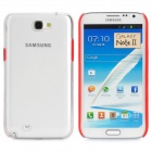 Protective Plastic Hard Back Case for Samsung Galaxy Note 2 N7100 - Red + Transparent