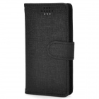 "Stylish Oracle Style Protective PU Case w/ Card Slots for 3.6~4.3"" Phone - Black"
