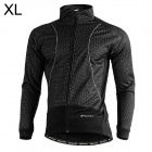 NUCKILY NJ525-W Cycling Windproof Warm Fleece Jacket / Coat for Men - Black (XL)