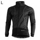 Buy NUCKILY NJ525-W Cycling Windproof Warm Fleece Jacket / Coat Men - Black (L)