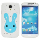 Cute Rabbit Pattern Protective Plastic Back Case for Samsung Galaxy S4 i9500 - White + Blue