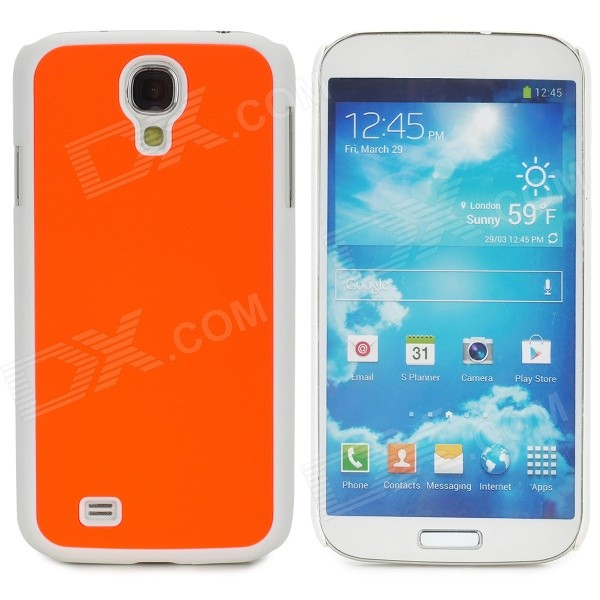 Protective Plastic Back Case for Samsung Galaxy S4 i9500 - Orange + White water drop style protective plastic back case for samsung galaxy s4 i9500 yellow orange