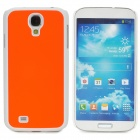 Protective Plastic Back Case for Samsung Galaxy S4 i9500 - Orange + White