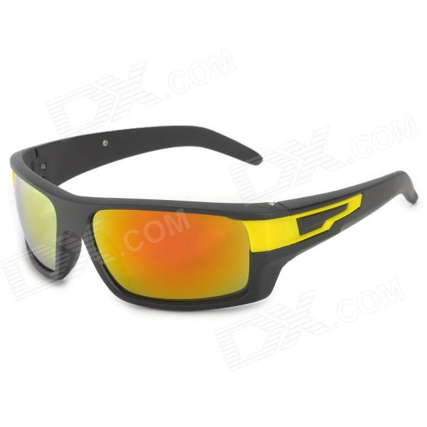 ANT 2054 Sports Red REVO Lens UV400 Protection Sunglasses - Black + Yellow
