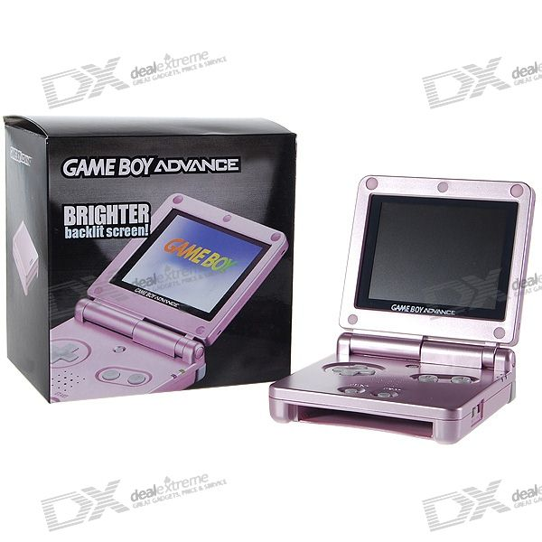 """Designer 3.3"""" LCD Portable Handheld Game Console with 92 Built-in Games (Rose Red)"""