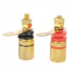 Copper Banana Sockets Set for Speaker / Instrument / Meter / Tester - Golden + Red + Black