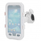 ABS + Silicone Car / Bike Cellphone Holder w/ Protective Case for Samsung S4 + More - White