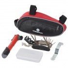 Yongruih 01 Outdoor Cycling Bike Repairing Tool Set - Red + Blue