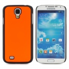 Protective Plastic Back Case for Samsung i9500 Galaxy S4 - Orange + Black