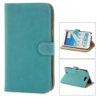 Protective PU Leather Case Cover Stand w/ Card Slots for Samsung Galaxy Note 2 N7100 - Blue