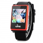 "WIME NanoSmart 1.54"" Bluetooth V2.1 Dialer Headset Quad Band GSM Smart Watch Phone - Red Orange"