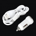 Widepath Car Charger + USB Male to Micro USB Charging Cable Set for Samsung - White
